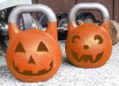 Halloween Kettle bells... Why not! lol