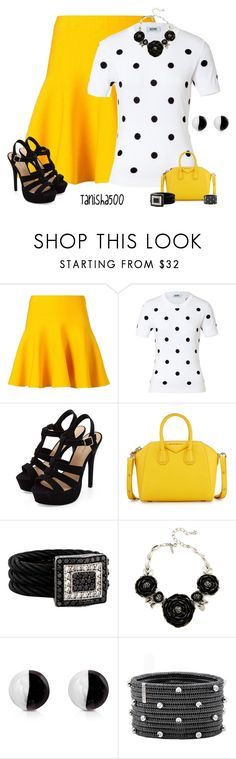 """Yellow, Black and White!!;)"" by tanisha500 ❤ liked on Polyvore featuring Le Ciel Bleu, Moschino Cheap & Chic, Givenchy, Charriol, Oscar de la Renta, Antica Murrina and Roberto Demeglio"