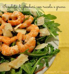 L'insalata di gamberi con rucola e grana è un piatto che può essere servito come antipasto o insalata di contorno ad una cena estiva. I gamberi con rucola..