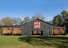 Kentucky barn with tobacco drying in the Autumn breeze. Beautiful!