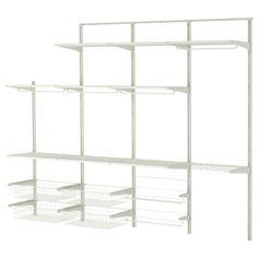 $183.49 ALGOT Wall upright/rod/shoe organizer - IKEA