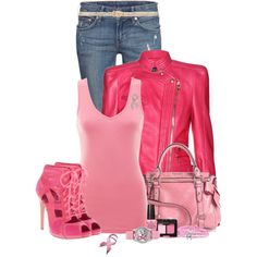 """""""Pink, Pink, and More Pink"""" by modern-woman on Polyvore"""