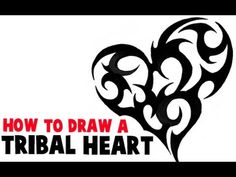 How to Draw a Tribal Heart Tattoo Design in Easy Steps Tutorial - How to Draw Step by Step Drawing Tutorials
