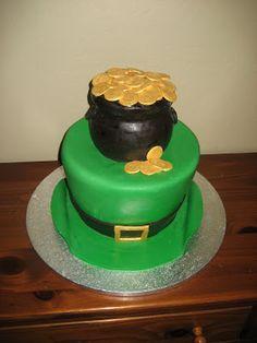 The Cake Bizzle-St. Patrick's Day cake