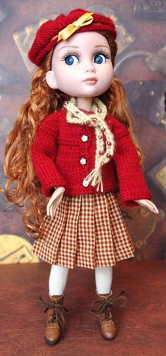 Cinnamon n' Spice A 5 Pc Handknit Outfit for #Tonner #Patience Dolls by KarmelApples #dollclothes