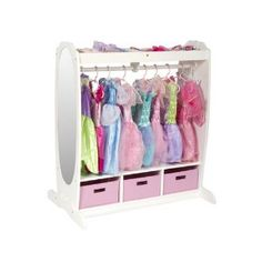 Amazon: Dress Up Center (change pink baskets for natural woven)