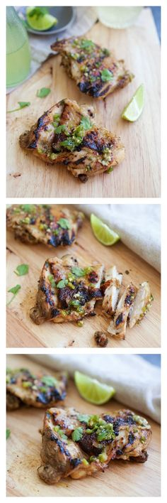 Chili Lime Grilled Chicken. So juicy, yummy, with a nice tangy taste from the lime juice. This recipe is perfect for summer grilling. http://rasamalaysia.com