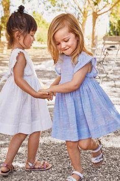 Купить Платье с рукавами-оборками (3 мес.-6 лет) from Next 8f67fecac24cf