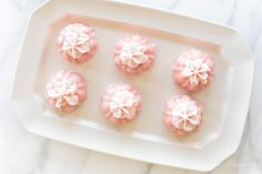Easy recipe for decadent Pink Champagne Cupcakes - perfect for showers, NYE and girl's night out! These pretty cupcakes look and taste like Petit Fours without the effort! Cake In A Cone, Cake And Cupcake Stand, Cupcake Cakes, Cup Cakes, Spring Desserts, Mini Desserts, Just Desserts, Pink Champagne Cupcakes, Champagne Party