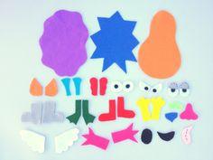 Make a Monster Felt Board Set, Monster Games for Kids, Monster Felt Story Board Pieces. $28.00, via Etsy.