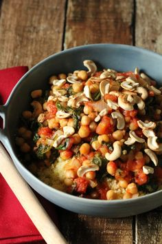 Chickpea and Spinach Couscous (Vegan, Quick & Easy) - Love and Lentils
