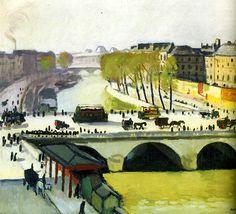 bofransson:  1908Albert Marquet Le Pont Saint-Michel