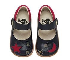 Star and moon shoes for kids by See Kai Run. Love these so much.
