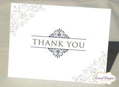 Elegant Classic Note Card Set - Wedding Thank You Cards