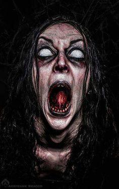 """""""The Scream"""" Horror Art Arte Horror, Horror Art, Horror Movies, Horror Photography, Dark Photography, Halloween Photography, Creepy Horror, Creepy Art, Maquillage Halloween"""