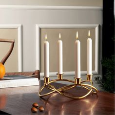 Georg Jensen Season ljusstake guld - danskdesign.nu Christmas Decorations To Make, Christmas Tree Ornaments, Christmas Crafts, Holiday Decor, Scandinavian Holidays, Scandinavian Countries, Advent Candles, Holiday Tables, Candle Holders