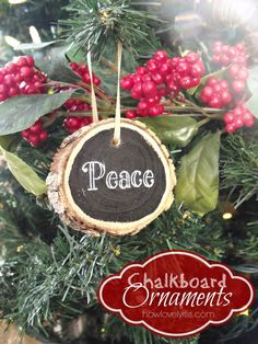 Chalkbord Ornaments | How Lovely It Is
