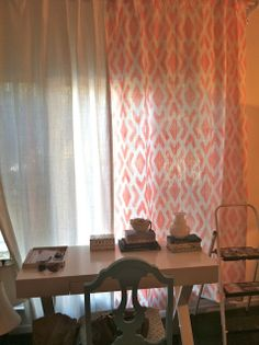 Stencil painted drapes Rosa Beltran Design {Blog}