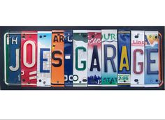 Garage Man Cave Word Block Personalized With Your Man's Name - Last Name…