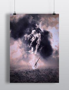 Etherea, l'immagine di copertina del libro creata da Matteo Gandelli. Cliccate sulla foto per maggiori informazioni. #etherea #ebook #libro #libri #racconti #grafica #chitarra #musica #arte #grafico