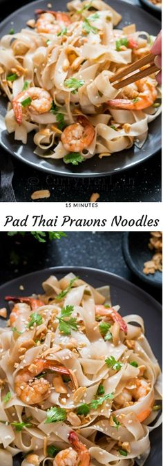 You guys won't believe how delicious these Pad Thai Noodles with prawns is! And you know what, you can make it in 15 minutes with all BIG flavors. This is gonna be your easy and favorite family dinner recipe.  Fresh, bold flavors from Thai cuisine is to die for. I like all the flavors in it, I really do. #padthainoodles #prawnsthainoodles #dinnerrecipes #familydinner #15minutesrecipes