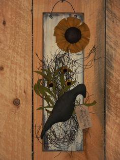 Crow and Sunflower Wall Board