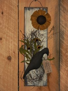 Crow and Sunflower Wall Board