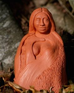 Banbha of Earth, beautiful terracotta altar statue by Karen Mander, displaying the Mother of Earth, She of deep Holding and Grounding and all of Nature Jungian Archetypes, Medicine Wheel, Mabon, Beautiful Hands, Overlays, Earth, Sculpture, Statue, Drawings