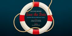 Save the Date for you next nautical event with this Lifesaver Evite design!