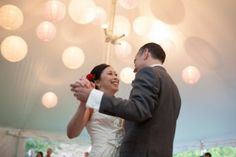 Bride and groom first dance at the Bradley Estate, Canton, MA