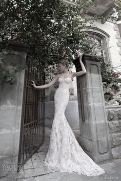 galia lahav couture bridal 2012 strapless sheath wedding dress