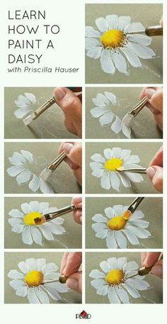 How to draw a daisy