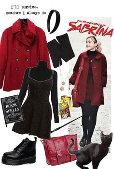 The Chilling Adventures of Sabrina. Discover outfit ideas for made with the shoplook outfit maker. How to wear ideas for Gold Layered Necklace and found by eirafae Witch Outfit, 90s Outfit, Trendy Outfits, Winter Outfits, Fashion Outfits, Sabrina Spellman, Character Inspired Outfits, Aesthetic Clothes, My Style