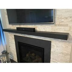 Pearl Mantels Hadley Fireplace Shelf Mantel & Reviews | Wayfair Black Fireplace Mantels, Wood Mantel Shelf, Fireplace Mantel Surrounds, Fireplace Shelves, Wood Mantels, Open Fireplace, Fireplace Inserts, Fireplace Ideas, Fireplace Refacing