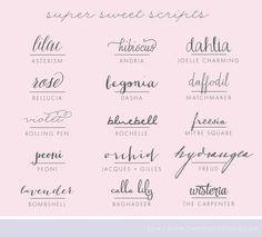 Script Fonts | OTSS