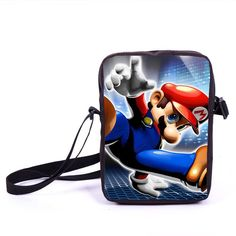 Mario Sonic Boom Mini Messenger Bag Children Cross Bag Boys School Bags Kids Book Bags Schoolbags Young Men Bookbag Best Gift