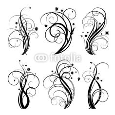 Black Swirl Design By Adsheyn Royalty Free Vectors 25101353 On