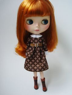 Second-harvest-dress-for-blythe-doll by pommepomme on Etsy.