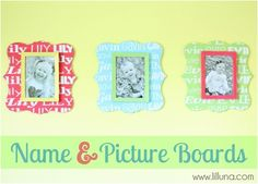 Custom Name Picture Boards #crafts #diy  #MommyPage
