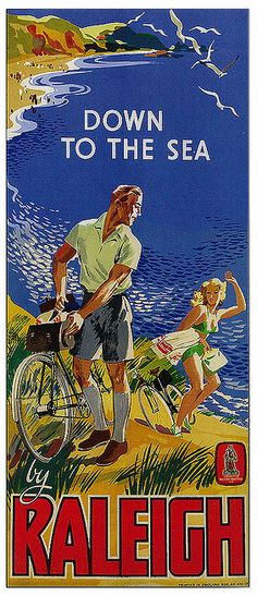 Raleigh vintage cycling poster