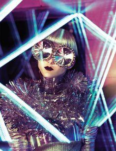 Trip out, Gaga! #ladygaga #littlemonsters #artpop #trip #psychedelic #scifi #fashion #goggles