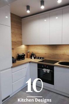 50 Creative Modern Kitchen Cabinet Design Ideas For Large Space Storage – Small Kitchen Ideas Storages Kitchen Room Design, Kitchen Cabinet Design, Modern Kitchen Design, Home Decor Kitchen, Interior Design Kitchen, New Kitchen, Home Kitchens, Kitchen Small, Smart Kitchen