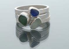 Gower sea glass stack ring by Kate Lewis. Eternal tools loves it.