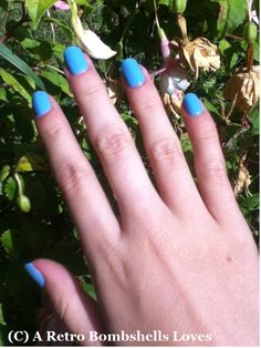 Bold Blue Nails