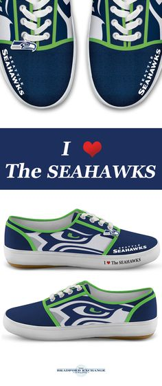 Step up your Seahawks pride with winning sneakers! Custom-designed with team logos, colors and a metallic logo charm, these NFL-licensed women's shoes are a must for Seattle Seahawks fans.