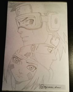 Obito, Kakashi and Rin. #myronne_draw