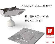 海外買い付け◆ミニマルキャンプに「FLAPOT/折り畳みステンレス鍋」 - アウトドア格安通販販売サイト/アウトドアMIX