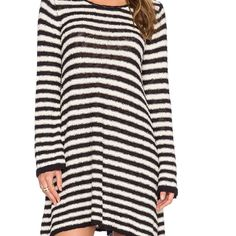 FLASH  SALE free people NWT dress This is very large as it is meant to fit oversized in my opinion this would even be big on a size large. NWT never worn I got it initially to wear as a sweater on myself but it does not flatter me Free People Dresses Mini