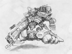 Jes Goodwin is, together with John Blanche, the mastermind behind the distinctive look of the Warhammer universe. He is arguably one. Warhammer 40k Necrons, Warhammer 40k Miniatures, Necron Army, Battlefleet Gothic, Fantasy Races, Fantasy Illustration, Dark Fantasy, Concept Art, Sketches