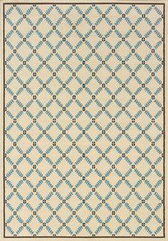 Caspian 6997Y Ivory/ Blue Rug | Rug & Home